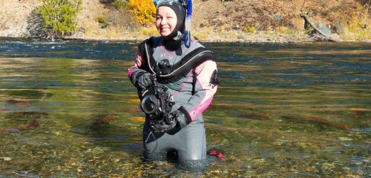 Kathryn Britnell at upper Adams River